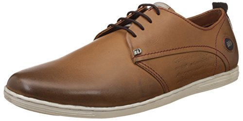 ID Mens Leather Sneakers Tan