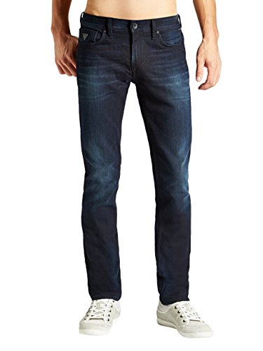 GUESS Men's Robertson All-Around Slim Jeans in Vedette Wash, 32 Inseam