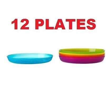 Ikea Kalas 501.929.59 BPA-Free Plate, Assorted Colors, 6-Pack