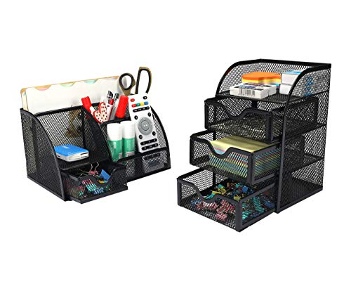 PAG Office Supplies Mesh Desk Or...