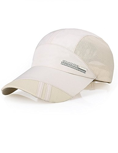 Ellewin Unisex Quick Dry Waterproof Baseball Sun Cap Sports Hat (Beige) (Cool Summer Hats compare prices)