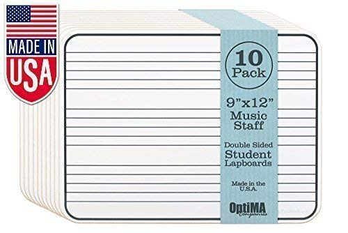 9x12 Double Sided Music Staff Dry Erase Lap Boards (10 Pack)]()