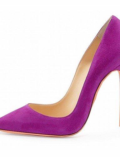 GGX/ Damenschuhe-High Heels-Hochzeit / Büro / Kleid / Lässig / Party & Festivität-Lackleder / Mikrofaser-Stöckelabsatz-Absätze-Schwarz / Blau purple-us6.5-7 / eu37 / uk4.5-5 / cn37
