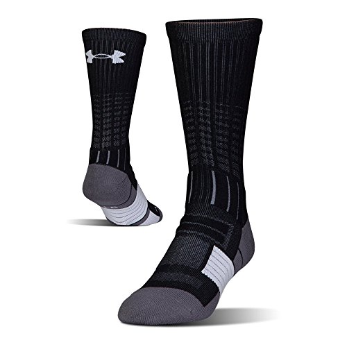 Under Armour UA Unrivaled Crew, Black/White, Shoe Size: Mens 8-12, Womens 9-12 ()
