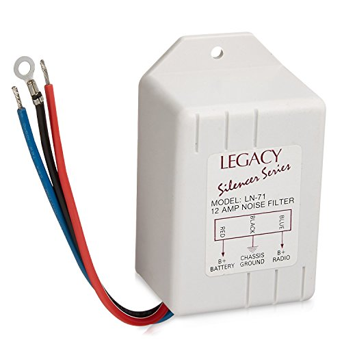 Legacy Noise Suppressor - Rated 12 Amps Power and Reduces or Eliminates Engine Interference - Compatible with Receiver, Equalizers and Amplifiers for Car Stereos - ()