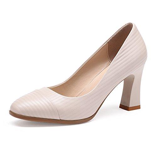 carrera blanco Primavera M singles con de High Otoño gruesos Heeled Mujer zapatos zapatos Aemember y femeninos trayecto 36 Zapatos UY1qHt