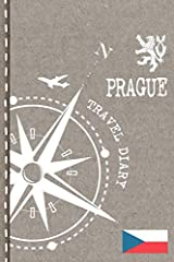 Prague Travel Journal - Dot grid Diary Notebook to write in - Travelers Vacation Log Book                                  1 Preview page with illustration and travel quotation                             3 Pages with Checklis...