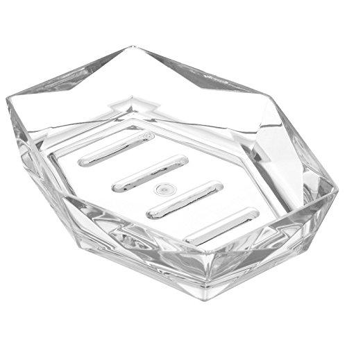 FERIDRAS Diamante Portasapone, Bianco, 3.6x14.5x11.5 cm, Brand 691003