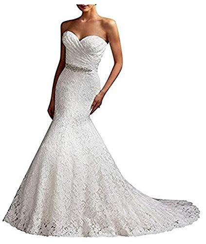 Brautkleid Abendkleider Mingxuerong Für Spitze Elfenbein Lang Meerjungfrau Hochzeitskleid Damen YzOSPq