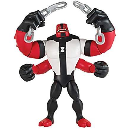 Poseable Arms - Cartoon Network Ben 10 Four Arms with Breakable Chain Poseable Action Figure 5