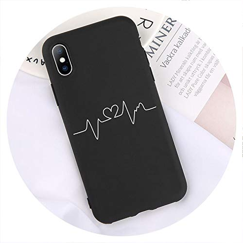 Phone Case Love Heart Letter Animal Soft TPU Silicon Back Cover for iPhone Models,3358,for iPhone Xs