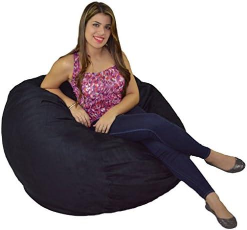 Cozy Sack Bean Bag Chair  Large 4 Foot Foam Filled Bean Bag Large Bean Bag Chair