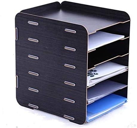 Datei Racks 6Tier Organizers for Unternehmen Home School Stores Organisieren von Dateiordnern - Desktop Document Letter Tray Organizer Datei-Halter-Desktop (Color : B, Size : 26X27X32CM)