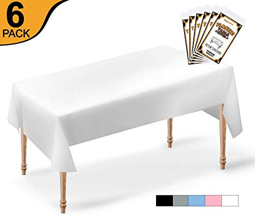 54x108 Rectangle Plastic Table Covers - 2