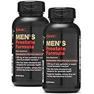 GNC Men's Prostate Formula, Twin Pack, 60 Softgels per Bottle, Supports Normal Reproductive Function