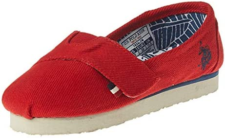 Size 33 Shoe In Us.U S Polo Assn Canvas Casual Shoe For Boy Red Size 33 Eu