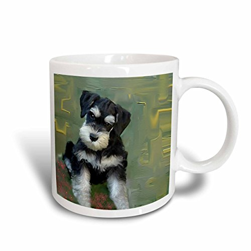 3dRose Miniature Schnauzer Mug, - Schnauzer Photo