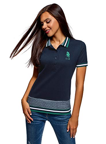 oodji in piqu Donna Polo Ultra nPwFq0PSr