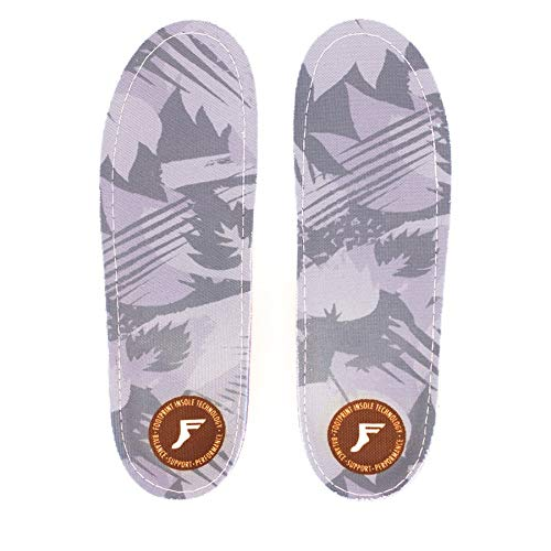 Footprint Insole Technology Gamechangers Custom Orthotics Low Profile Fp Insoles, Grey Camo, Size 11/11.5