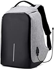 Anti theft laptop backpack with USB charge waterproof bag