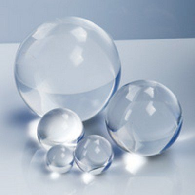 1 1/2' Solid Round Clear Acrylic Ball