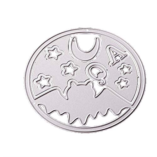 HongXander Happy Halloween Metal Cutting Dies Stencils Scrapbooking Embossing DIY Crafts for Kitchen, Dining and Bar (E) -