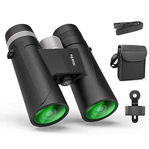 Compact Binoculars for Adults - High Power 12x42 Roof Prism Binocular with Low Light Night Vision,Waterproof Fogproof Binoculars for Bird Watching,Travel,Hunting,Wildlife,Concert