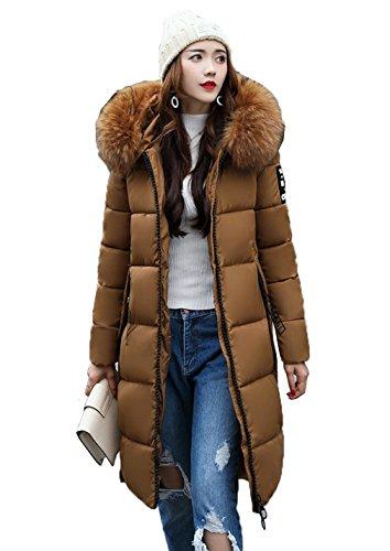 Capuche Bigood Aux Caramel Polyester Manches Longues Vogue Manteau Hiver Veste Doudoune xrw1ax8