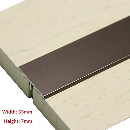 GWXFHT Threshold Strip T Type Wooden Door Decorative Strip Non-slip Threshold Strip Aluminum Alloy Floor Bead Edge Strip…