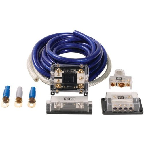 DB Link CK0DZ DB 0-Gauge Competition Series Amplifier Installation Amplifier Installation Kit-Blue