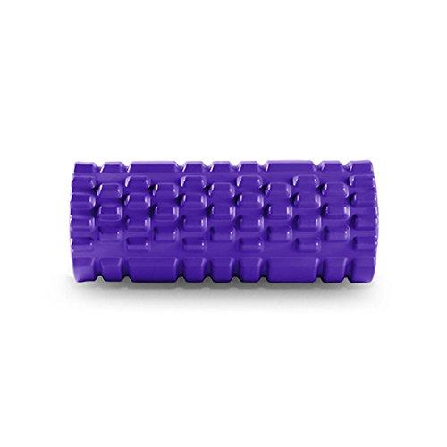 Muscle De Rouleau De Mousse De Remise En Forme Détendre Le Rouleau De Massage Avec La Grille De Massage Bâton De Massage Outil De Massage Pour La Maison Gymnase Pilates Yoga,Purple-33cm