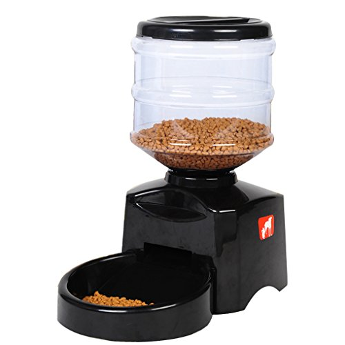 Automatic Feeder  Hqclothingbox Large Automatic Cat Feeder Electric Pet Dry Food Container With Lcd Display For Dogs Cats