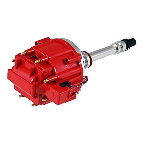 Megaflint New SBC Bbc Small Block Racing Chevy V8 HEI Distributor Extreme 65k Coil 7500RPM Red 350 383 454 ()