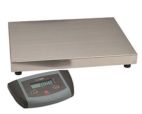 Low Profile Bench Scale - Ohaus Bench & Floor Scales - ES Series Bench Scales Model ES100L, 220lb x 0.1lb/ 100kg x 0.05kg<BR>Platform Size 20.5 x 15.7 in / 52 x 40 Cm