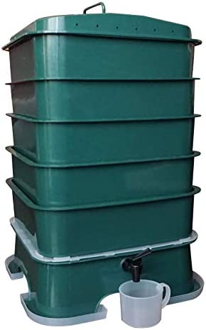 VermiHut Plus 5-Tray Worm Compost Bin Quick Set-up, Easy use, and Sustainable Designs
