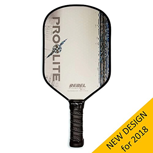 Pro-Lite Rebel PowerSpin Pickleball Paddle (Blue) - NEW DESIGN