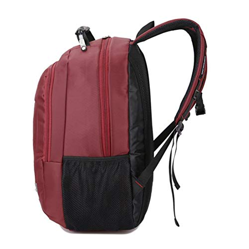 Dhfud Simplicity Fashion Men's Casual Backpack Bag Business Waterproof Winered Laptop SS4wfcB1r