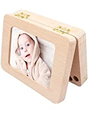 Personalized Deciduous Baby Teeth Box with Wooden Photo Frame,Kids First Tooth Saver Milk Teeth Organizer Box for Boy&Girl