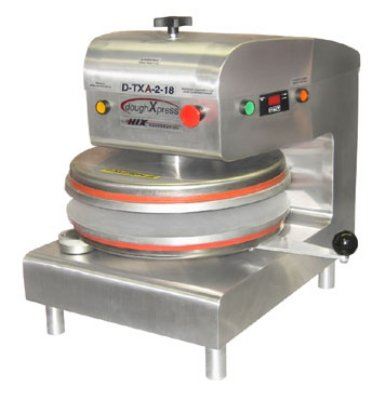 DoughXpress D-TXA-2-18W Automatic White Powder-Coated, Commercial Air, Dual-Heated Press with 18'' Platens, 120V, 18-3/16'' Width x 25-1/8'' Height x 24-11/16'' Depth