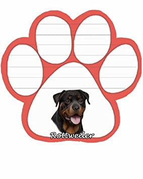 Huella De Perro Rottweiler Almohadillas De Notas Magnético Amazon