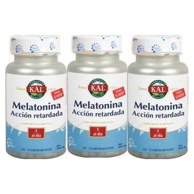 Kal - PACK 2+1 MELATONINA 1,9MG Y 5HTP A. R. KAL: Amazon.es: Salud y cuidado personal