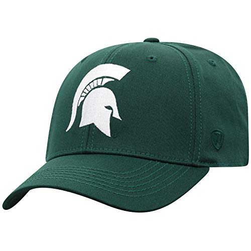 NCAA Michigan State Spartans Men's Fitted Relaxed Fit Team Icon Hat, Dark Green