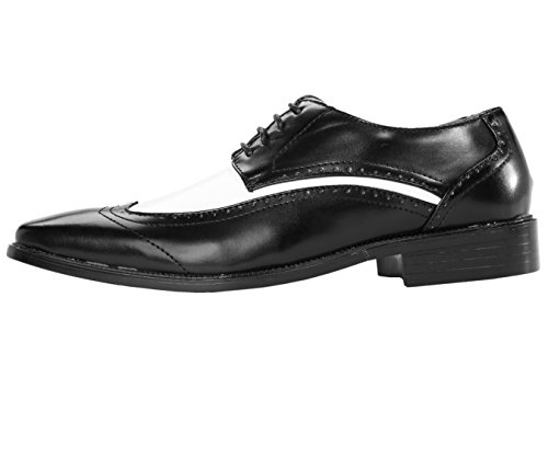 Amali Heren Tweekleurige Wingtip Oxford Dress Schoenstijl P1056 Zwart