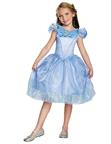 Disguise Cinderella Movie Classic Costume, Small (4-6x) (Halloween Costume Disney Princess)