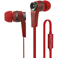 Edifier P275 Headset - Headphones with Mic and Inline Control - Noise-Isolating In-Ear Monitor Earphones - Red