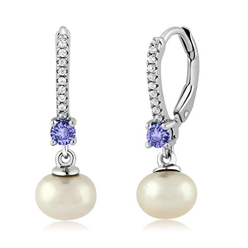 Elastic Bracelet and Earrings Set Gem Stone King White 3 Piece Cultured Freshwater Pearl Necklace