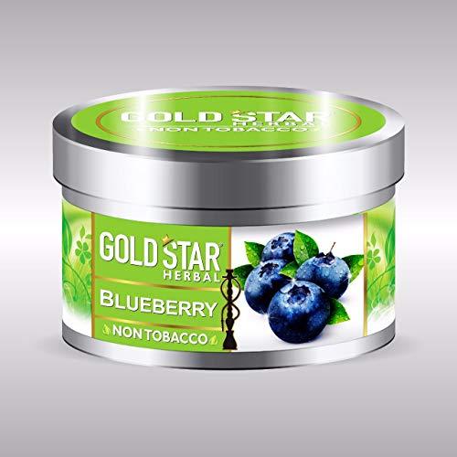 GOLDSTAR Herbal Non Tobacco Smoke Blueberry Flavor Premium Hookah 200 gm