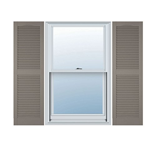 Ekena Millwork LL1C18X07300CL Custom Cathedral Top Center Mullion, Open LouverShutter (Per Pair)18