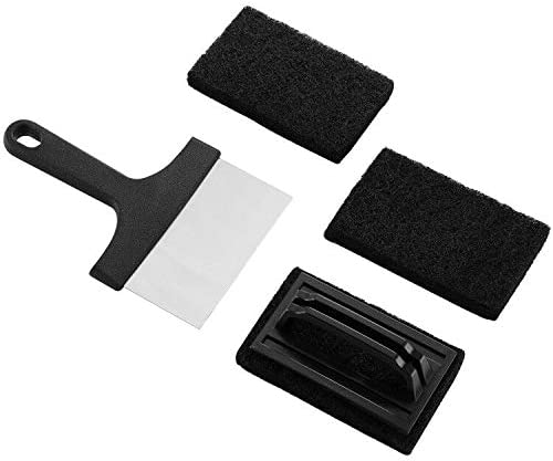 ROMANTICIST 4Pcs Griddle Cleaning Kit Multifunctional Griddle Scraper /& Souring Cleaning Pads and Griddle Cleaning Accessories Gift for Christmas Reusable Griddle Cleaning Pad with Handle