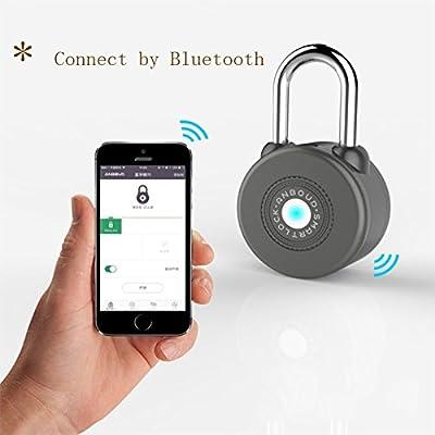 Bluetooth lock Keyless Smart Lock iOS Android School Lock Gate and Bike padlock